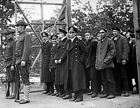 Officers and crew of the German submarine U.58, captured by the U.S.S. Fanning, entering the War Prison Camp at Ft. McPherson, Ga.  April 1918.  Mathewson & Winn.  (War Dept.)<br />EXACT DATE SHOT UNKNOWN<br />NARA FILE #:  165-WW-A161-4<br />WAR & CONFLICT BOOK #:  688