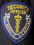 WATERBURY, CT-27January 2005-012705TK10  The Security Officer emblem for the St. Mary's Hospital Security Department.  Tom Kabelka staff photo (Security Officer emblem)CQ