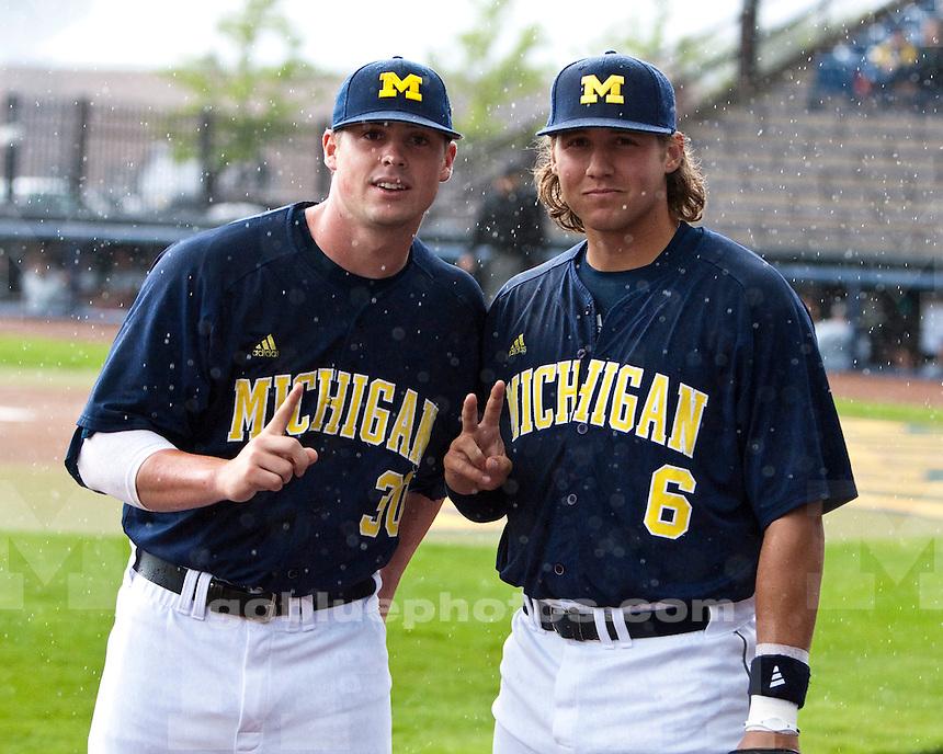 The University of Michigan men's baseball team beat Coastal Carolina, 5-2, at the Wilpon Baseball Complex in Ann Arbor, Mich., on May 9,2012.