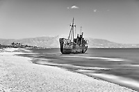 Shipwreck near to Gytheio in Laconia, Greece