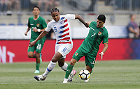 Chester, PA - Monday May 28, 2018: Weston McKennie, Luis AlíWeston during an international friendly match between the men's national teams of the United States (USA) and Bolivia (BOL) at Talen Energy Stadium.