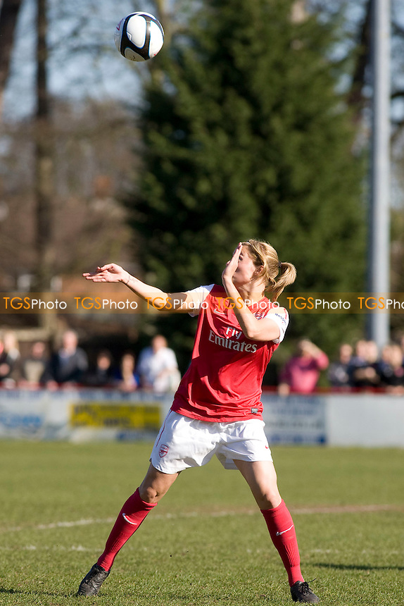 Flaherty (Arsenal) cues up for a header. - Lincoln Ladies vs Arsenal Ladies - FA Women's Cup 5th Round Football at Ashby Avenue - 11/03/12 - MANDATORY CREDIT: Mark Hodsman/TGSPHOTO - Self billing applies where appropriate - 0845 094 6026 - contact@tgsphoto.co.uk - NO UNPAID USE.