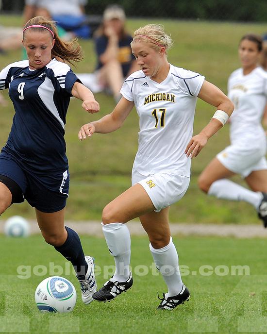 8/9/2010 2010 Women's Soccer vs. Akron (Exhibition) in Ann Arbor..SOW 2010.Win 2-1