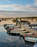 Mount Desert Island, Maine:<br /> Southwest Harbor boats at sunrise