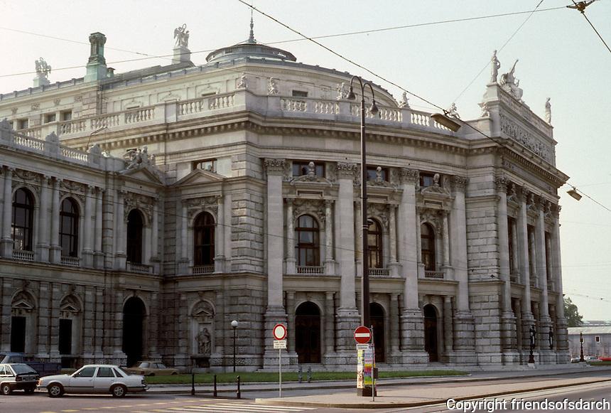 Vienna: The Ringstrasse--Burgtheater  (National Theater). Gottfried Semper & Karl Von Hasenauer, 1874-1888. Rebuilt in 1945-1955. Photo '87.