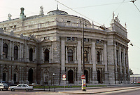 Vienna: The Ringstrasse--Burgtheater  (National Theater). Gottfried Semper & Karl Von Hasenauer, 1874-1888. Rebuilt in 1945-1955. Photo '87.