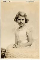 BNPS.co.uk (01202 558833)<br /> Pic: MarcusAdams/ChiswickAuctions/BNPS<br /> <br /> Princess Elizabeth at 8 and a half years old<br /> <br /> Charming childhood photos of Princess Elizabeth and Princess Margaret have come to light, including a previously unseen image of the future Queen in a kilt.<br /> <br /> The portraits, taken by acclaimed British society photographer Marcus Adams, capture the future Queen from being a baby to her adolescence.<br /> <br /> The Queen Mother would often take her daughters to his central London studio where he would set up toys and props to keep them entertained