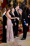 Queen Letizia, Juliana Awada, President of Argentine Republic, Mauricio Macri, King Felipe VI of Spain and culture minister Iñigo Mendez de Vigo during the gala dinner given to the President of the Argentine Republic, Sr. Mauricio Macri and Sra Juliana Awada at Real Palace in Madrid, Spain. February 19, 2017. (ALTERPHOTOS/BorjaB.Hojas)