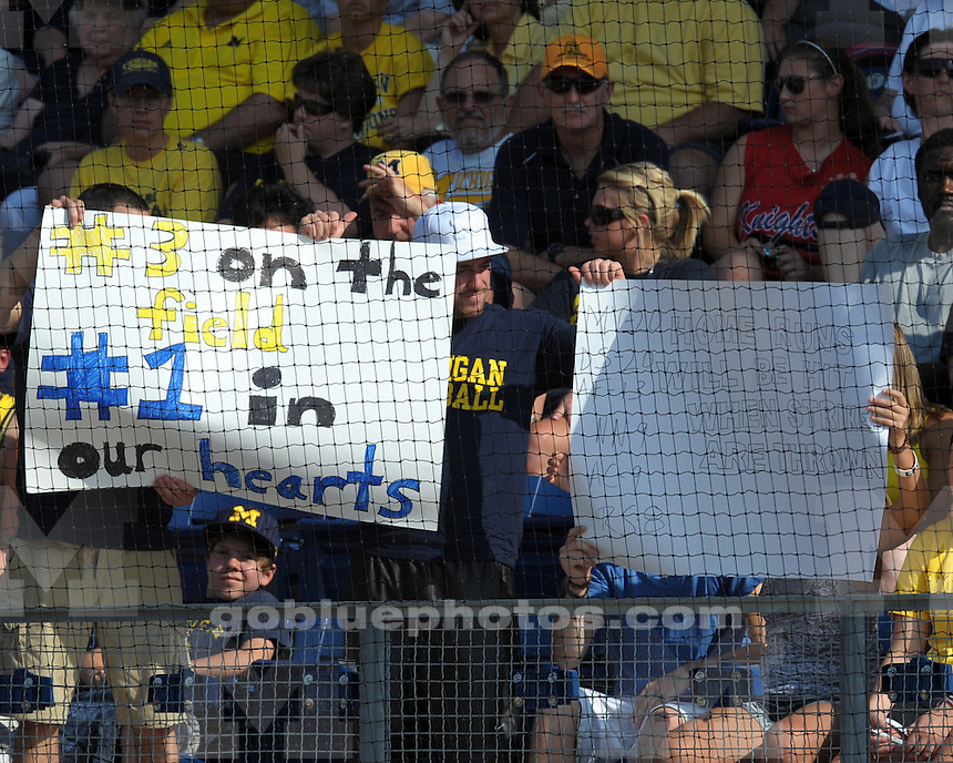 The University of Michigan softball team falls to Tennessee 4-3 in the last game of the Ann Arbor NCAA Super Regional at the Wilpon Softball Complex (Alumni Field) on Friday, May 28, 2010 in Ann Arbor, MI.