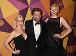 BEVERLY HILLS, CA - JANUARY 07: (L-R) Actors Emilia Clarke, Gwendoline Christie and Nikolaj Coster-Waldau arrive at HBO's Official Golden Globe Awards After Party at Circa 55 Restaurant in the Beverly Hilton Hotel on January 7, 2018 in Los Angeles, California.