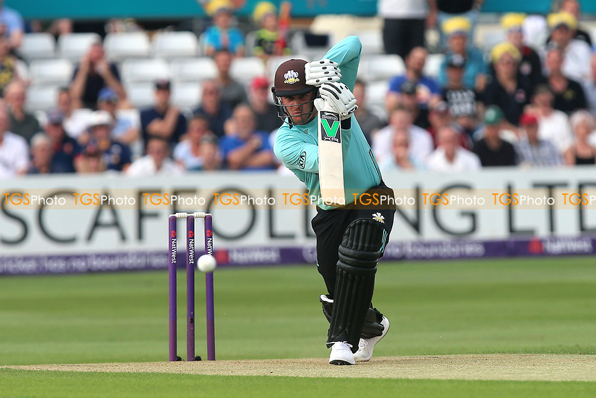 Jason Roy in batting action for Surrey during Essex Eagles vs Surrey, NatWest T20 Blast Cricket at The Cloudfm County Ground on 7th July 2017