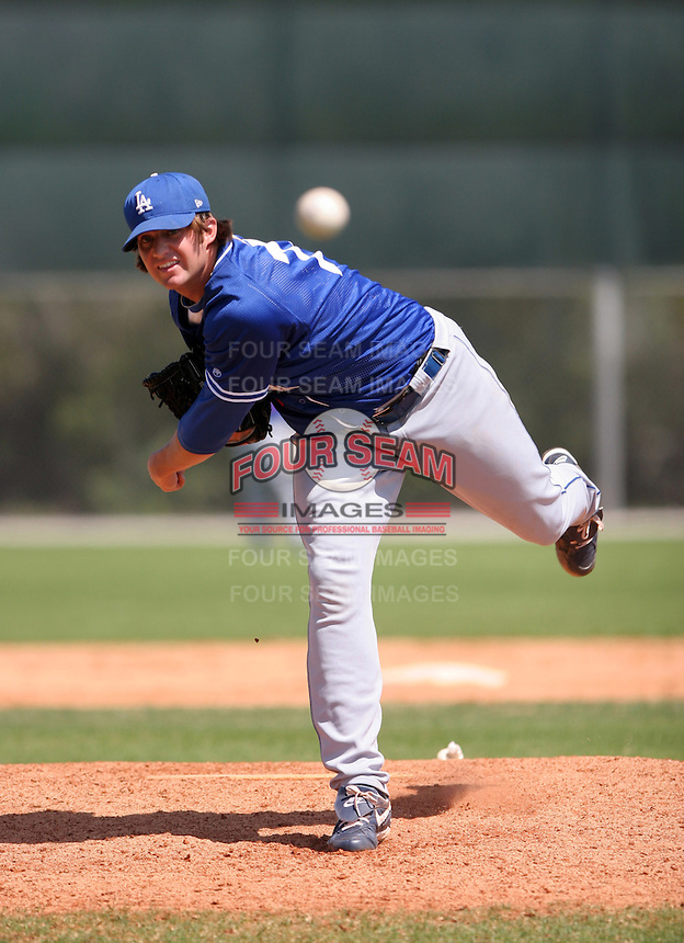 Los Angeles Dodgers minor leaguer Brent Leach during Spring Training at Dodgertown on March 22, 2007 in Vero Beach, Florida.  (Mike Janes/Four Seam Images)