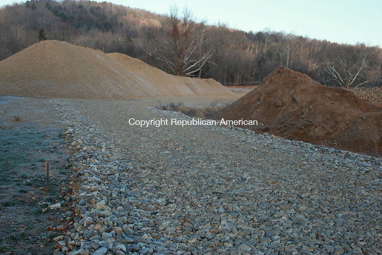SOUTHBURY, CT: 25 Nov. 2015: 25112015CB03: SOUTHBURY -- A developer constructing a movie theater in Southbury at 690 Main St. South says work on the building foundation should begin soon,  following delays to the project caused by a parking lot redesign. Caleb Bedillion Republican-American