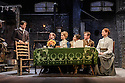 London, UK. 13.06.2016. HOBSON's CHOICE, by Harold Brighouse, opens at the Vaudeville theatre in the West End. Directed by Jonathan Church, with lighting design by Tim Mitchell and set & costume design by Simon Higlett. Picture shows: Bryan Dick (Willy Mossop), Joe Bannister (Albert Prosser), Florence Hall (Alice Hobson), Gabrielle Dempsey (Vicky Hobson), ryan Saunders (Freddie Beenstock), Naomi Frederick (Maggie Hobson). Photograph © Jane Hobson.