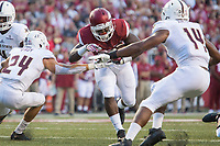 NWA Democrat-Gazette/JASON IVESTER<br /> Arkansas against Texas State on Saturday, Sept. 17, 2016, at Donald W. Reynolds Razorback Stadium in Fayetteville.