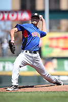 Buffalo Bisons pitcher Michael O'Connor #54 during a game against the Rochester Red Wings at Frontier Field on August 2, 2011 in Rochester, New York.  Rochester defeated Buffalo 7-3.  (Mike Janes/Four Seam Images)