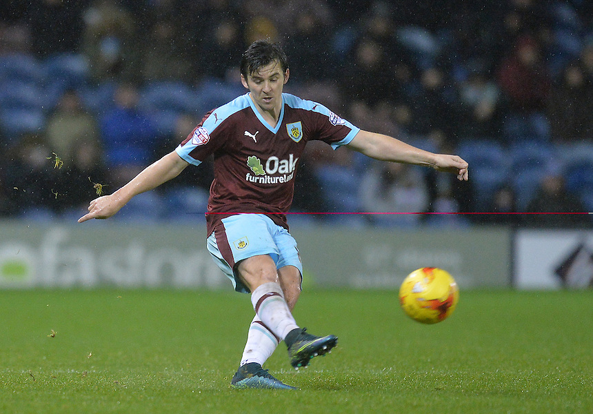 Burnley's Joey Barton<br /> <br /> Photographer Dave Howarth/CameraSport<br /> <br /> Football - The Football League Sky Bet Championship - Burnley v Preston North End - Saturday 5th December 2015 - Turf Moor - Burnley<br /> <br /> &copy; CameraSport - 43 Linden Ave. Countesthorpe. Leicester. England. LE8 5PG - Tel: +44 (0) 116 277 4147 - admin@camerasport.com - www.camerasport.com