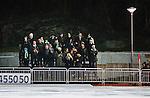 Stockholm 2013-12-30 Bandy Elitserien Hammarby IF - Broberg S&ouml;derhamn IF :  <br /> Den sk Holger-l&auml;ktaren vid i ena h&ouml;rnet av Zinkensdamms IP fylld med Hammarby supportrar<br /> (Foto: Kenta J&ouml;nsson) Nyckelord:  supporter fans publik supporters