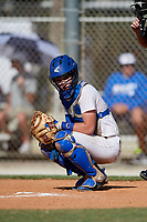 Briggs Rutter during the WWBA World Championship at the Roger Dean Complex on October 19, 2018 in Jupiter, Florida.  Briggs Rutter is a catcher from Columbia, Tennessee who attends Zion Christian Academy and is committed to Middle Tennessee State.  (Mike Janes/Four Seam Images)