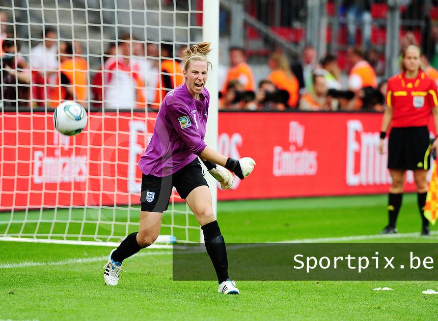 Fifa Women's World Cup Germany 2011 : England - France - at Leverkusen : Karen Bardsley .foto DAVID CATRY / Vrouwenteam.be