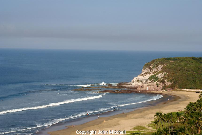 Playa Bruja or Witch's Beach and Cerritos Point, Nuevo  Mazatlan, Sinaloa, Mexico