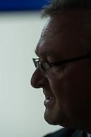 Praesentation der CDU-Kampagne fuer die Abgeordnetenhauswahl am 18. September 2016 in Berlin.<br /> Der CDU-Landesvorsitzende Frank Henkel stellte am Mittwoch den 6. April 2016 zusammen mit dem<br /> Wahlkampfleiter Kai Wegner und dem<br /> Kampagnenmanager Thomas Heilmann die Kampagne der Berliner CDU zur Abgeordnetenhauswahl vor. Konkrete Plakate mit Fotomotiven konnten nur eingeschraenkt gezeigt werden, da die CDU die Nutzungsrechte nicht erworben hat. So wurden den Journalisten nur Plakatideen und das Logo der Kampagne praesentiert.<br /> Im Bild: Frank Henkel.<br /> 6.4.2016, Berlin<br /> Copyright: Christian-Ditsch.de<br /> [Inhaltsveraendernde Manipulation des Fotos nur nach ausdruecklicher Genehmigung des Fotografen. Vereinbarungen ueber Abtretung von Persoenlichkeitsrechten/Model Release der abgebildeten Person/Personen liegen nicht vor. NO MODEL RELEASE! Nur fuer Redaktionelle Zwecke. Don't publish without copyright Christian-Ditsch.de, Veroeffentlichung nur mit Fotografennennung, sowie gegen Honorar, MwSt. und Beleg. Konto: I N G - D i B a, IBAN DE58500105175400192269, BIC INGDDEFFXXX, Kontakt: post@christian-ditsch.de<br /> Bei der Bearbeitung der Dateiinformationen darf die Urheberkennzeichnung in den EXIF- und  IPTC-Daten nicht entfernt werden, diese sind in digitalen Medien nach §95c UrhG rechtlich geschuetzt. Der Urhebervermerk wird gemaess §13 UrhG verlangt.]