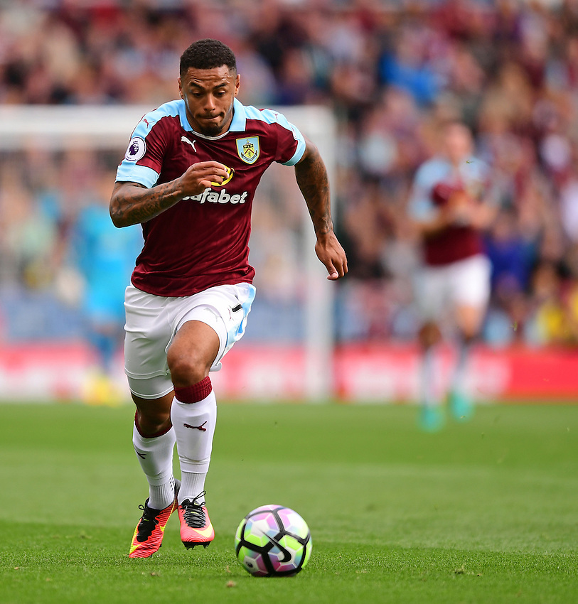 Burnley's Andre Gray<br /> <br /> Photographer Chris Vaughan/CameraSport<br /> <br /> Football - The Premier League - Burnley v Swansea City - Saturday 13th August 2016 - Turf Moor - Burnley<br /> <br /> World Copyright &copy; 2016 CameraSport. All rights reserved. 43 Linden Ave. Countesthorpe. Leicester. England. LE8 5PG - Tel: +44 (0) 116 277 4147 - admin@camerasport.com - www.camerasport.com