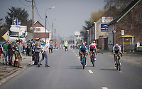 Lukas Pöstlberger (AUT/BORA - hansgrohe) and compagnons trying to make a run for it<br /> <br /> 103rd Ronde van Vlaanderen 2019<br /> One day race from Antwerp to Oudenaarde (BEL/270km)<br /> <br /> ©kramon