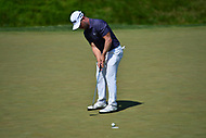 Potomac, MD - June 30, 2017: David Lingmerth sinks a putt on the 9th hole during Round 2 of professional play at the Quicken Loans National Tournament at TPC Potomac at Avenel Farm in Potomac, MD, June 30, 2017. Lingmerth ended the round 7 shots ahead. (Photo by Don Baxter/Media Images International)