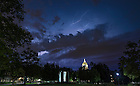 July 23, 2016; A summer storm approaches campus. (Photo by Matt Cashore/University of Notre Dame)