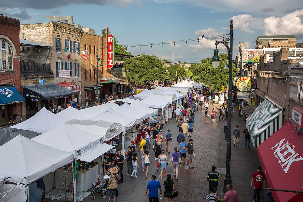 The Pecan Street Festival is the common name for the Old Pecan Street Spring and Fall Arts Festival, a free, bi-annual juried fine art and arts and crafts festival held on 6th Street in Austin, Texas.