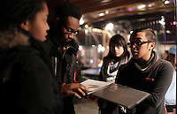 Montreal, CANADA, Feb 26 -<br /> <br /> Montreal photographer Philippe Manh Nguyen take part in RAW artists showcase, February 26, 2015 at Latulipe theater.