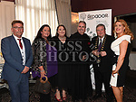 Paddy McQuillan, Karen Roghers, Louise Mahony, Fr Colm O'Mahony, Mayor of Drogheda Paul Bell, and Orla Keegan at the Red Door Project dinner dance in the Westcourt hotel. Photo:Colin Bell/pressphotos.ie