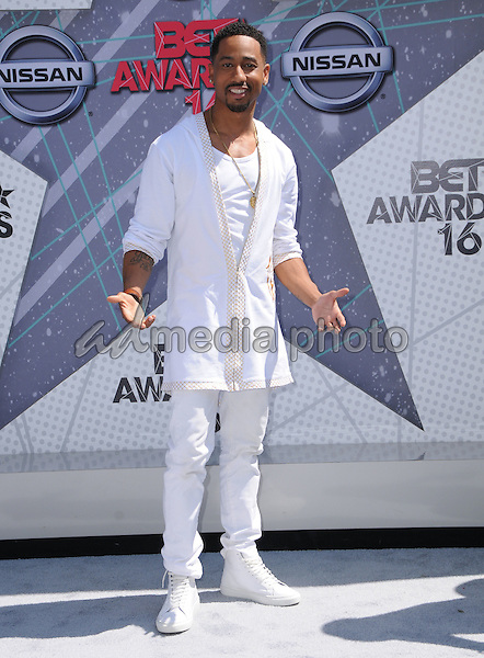 26 June 2016 - Los Angeles. Brandon T. Jackson. Arrivals for the 2016 BET Awards held at the Microsoft Theater. Photo Credit: Birdie Thompson/AdMedia