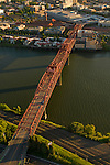 Aerial View of the Broadway Bridge, Portland, Oregon