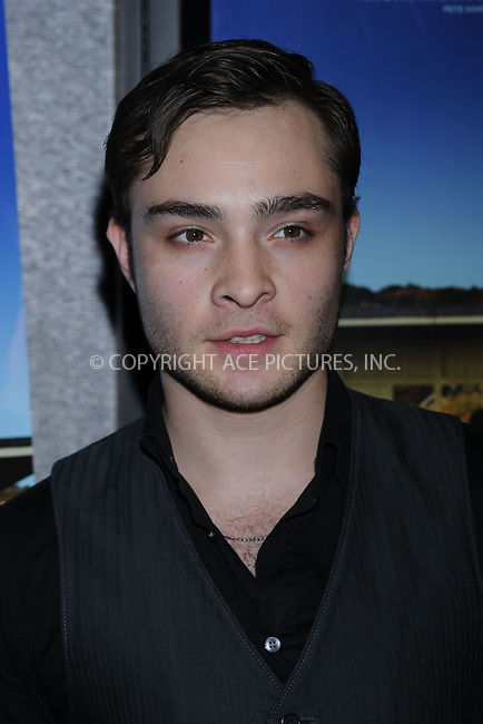 WWW.ACEPIXS.COM..April 06 2009, New York City..Actor Ed Westwick attends the premiere of 'Is Anybody There?' at Cinema 2 on April 6, 2009 in New York...Please byline: Kristin Callahan - ACEPIXS.COM...*** ***...Ace Pictures, Inc.tel: (212) 243 8787.e-mail: info@acepixs.com.web: http://www.acepixs.com..