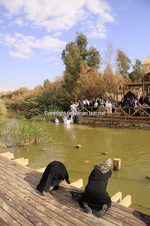 Jordan Valley, Qasr al Yahud, the place of Jesus' baptism by John the Baptist at the Jordan River