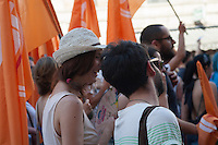 """""""Roma Pride 2013: Roma città aperta"""", Roma 15/06/2013 - Manifestanti per le vie di Roma - Demonstrators on the streets of Rome."""