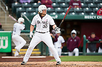 Luke Voit #30 of the Missouri State Bears at bat during a game against the Wichita State Shockers at Hammons Field on May 4, 2013 in Springfield, Missouri. (David Welker/Four Seam Images)