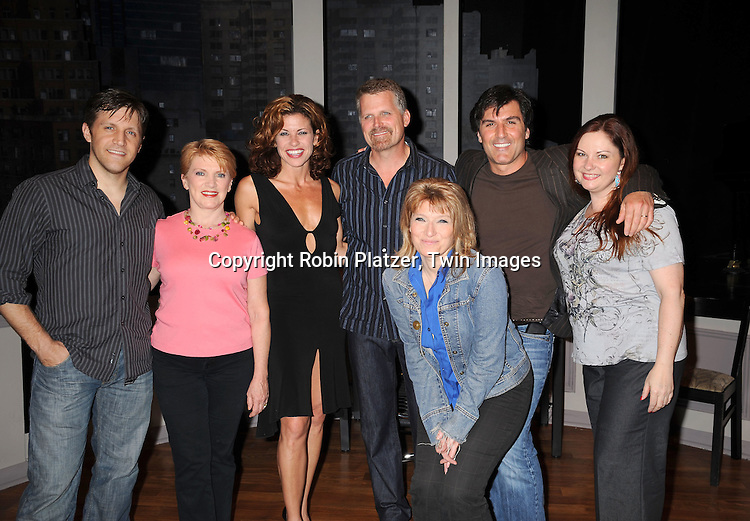 Robert Newman and Vincent Irizarry and cast of show
