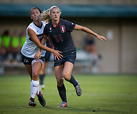 STANFORD, CA - August 10, 2018: Abby Greubel at Laird Q. Cagan Stadium. The Stanford Cardinal defeated the Fresno State Bulldogs 4-0.