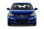 Car photography straight front view of a 2017 Hyundai Accent SE 4-Door 6-Speed Automatic 4 Door Sedan Front View