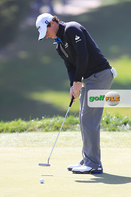 Rory McIlroy (NIR) takes his putt on the 18th green during Friday's Round 2 of the 112th US Open Championship at The Olympic Club, San Francisco,  California, 15th June 2012 (Photo Eoin Clarke/www.golffile.ie)