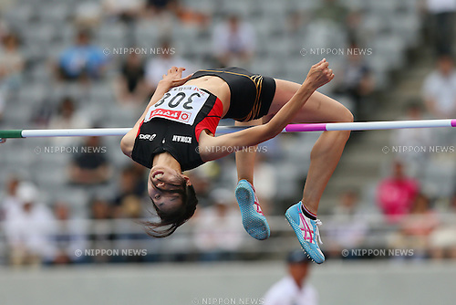 Miyuki Fukumoto (JPN), <br /> JUNE 9, 2013 - Athletics : <br /> The 97th Japan Track &amp; Field National Championships <br /> Women's High Jump Final <br /> at Ajinomoto Stadium, Tokyo, Japan. <br /> (Photo by YUTAKA/AFLO SPORT)