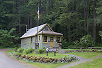 Staircase Ranger Station in Olympic National Park on east side of Olympic Mountains in Washington State.
