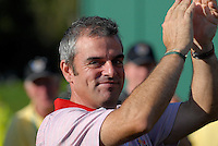 September 24th, 2006. European  Ryder Cup team player Paul McGinley after his team won the singles final session of the last day of the 2006 Ryder Cup at the K Club in Straffan,. County Kildare in the Republic of Ireland...Photo: Eoin Clarke/ Newsfile..