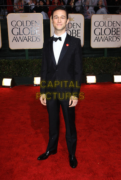 JOSEPH GORDON LEVITT.67th Golden Globe Awards held Beverly Hilton, Beverly Hills, California, USA..January 17th, 2010.globes full length black tuxedo.CAP/ADM/KB.©Kevan Brooks/Admedia/Capital Pictures