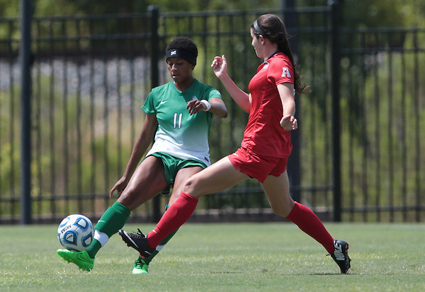 DENTON, TX - SEPTEMBER 6: North Texas  Mean Green Soccer v Rice at North Texas Soccer Complex in Denton on September 6, 2015 in Denton, Texas. (Photo by Rick Yeatts)