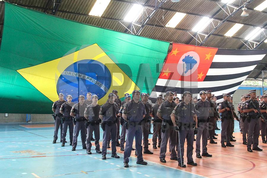 SÃO PAULO, SP, 08.03.2016 - ANIVERSÁRIO-PM- Aniversário de 106 anos do Centro de Capacitação Profissional Escola de Educação Física da Polícia Militar, na região norte de São Paulo nesta terça-feira, 08. (Foto: Marcos Moraes/Brazil Photo Press)