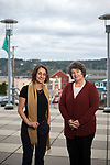 Kimberly Hendrickson, Behavioral Health Outreach program manager, and Poulsbo Mayor Becky Erickson at Poulsbo City Hall Jan. 17, 2018. Photo by Daniel Berman.